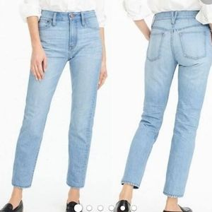 NWT J Crew point sur high rise straight jeans